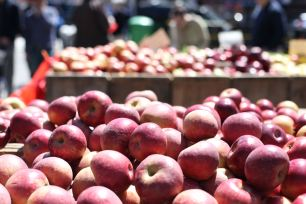 Farmer's Market - Red Apples